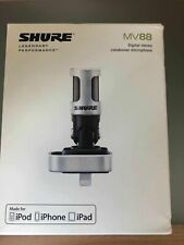 Shure Motiv MV88 iOS Digital Stereo Condenser Microphone IPAD IPHONE IPOD NEW