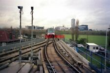 PHOTO  1991 DOCKLANDS LIGHT RAILWAY ISLAND GARDENS THE HIGH-LEVEL TRACK HERE IS