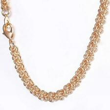 Collar Mujer Collar 5MM 750er Oro Rosa 18 Quilates Dorado Collar K3260