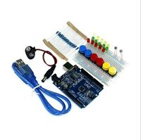 DIY UNO R3 Mini Breadboard LED Jumper Resistor Kit For Basic Arduino Starter Set