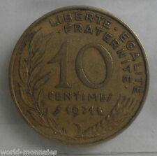10 centimes marianne 1971 : TB : pièce de monnaie française