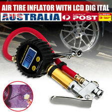 LCD Digital Tyre Inflator Car Motorcycle Air Pressure Tire Gauge PSI With Hose