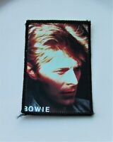 DAVID BOWIE VINTAGE SEW ON PHOTO STYLE PATCH FROM 1980's OLD RETRO BLUE JEAN