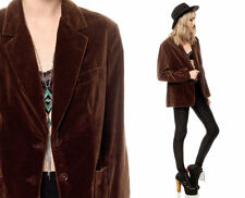Womens Vintage 70's Chaus Brown Velvet Velour Jacket blazer Size 9/10 Medium