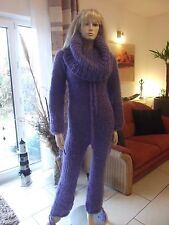 TRAUMMOHAIR Longhair Mohair Catsuit Overall Sweater Cowlneck Balaclava M-L NEU