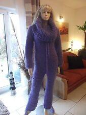 TRAUMMOHAIR Longhair Mohair Catsuit Overall Sweater Cowlneck Balaclava M-L NEU