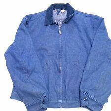 VTG Wrangler Denim Jacket Blanket Lined Talon Zipper Jean Coat Barn 70s 44 Large