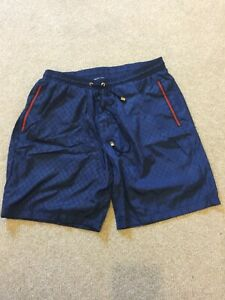 Men's Gucci blue swimming beach shorts waist 32