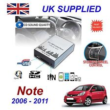 Per Nissan Note MP3 USB SD CD AUX Input Adattatore Audio Digitale Caricatore CD Modulo