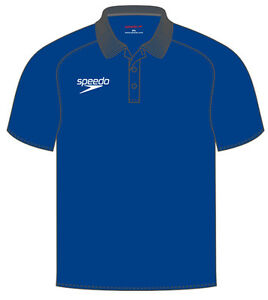 Speedo Dry Polo Shirt Royal Blue Polyester