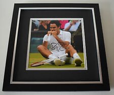 Roger Federer SIGNED Framed LARGE Square Photo Autograph display AFTAL & COA