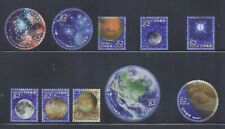 Japan 2019 Space Astronomy Celestial Bodies 82Y Complete Used Set of 10