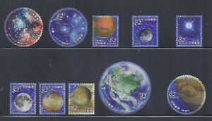 Japan 2019 Space Astronomy Celestial Bodies 82Y Comp Used Set of 10 Sc# 4274 a-j