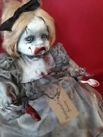 "Sinisterly Sissy's 'Katie' Undead,Spooky,Creepy,Haunted,Goth,Scary 17"" inch"