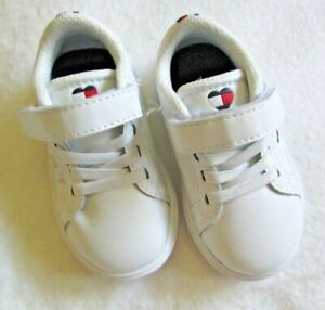 Tommy Hilfiger Toddler Girls  White With Heart Logo Shoes Size 5 NEW