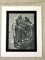 Antique Print Old Beggars Morocco Moroccan Middle Eastern 19th Century Original