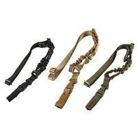 Tactical One Single Point Bungee Rifle Gun Sling Strap w/ Quick Release Buckle