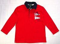Ralph Lauren Jeans Co Polo Shirt Medium Women's Red Nautical Cotton Red F02