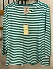 ☆Mudd & Water Marina Tee, Organic Cotton, Stretch Jersey, Striped☆Size 18☆BNWT!☆