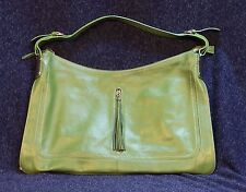 Barr Bella by barr barr, NY Green Leather Hobo Purse