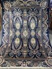 6X8 FT Very Rare Signed  Handmade Ghoum Design  high quality Pure Silk Kashmiri
