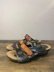 Lartiste Jamila Sandals Black Multi Size 38 / 7.5 US