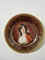 19th century Royal Vienna Style Hutschenreuther Portrait Plate Marked Numbered