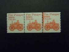 """#1908 PNC3 20c Pumper  Plate #1 MNH OG VF  Strip of 3 """"Includes New Mount"""""""