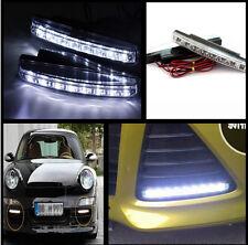 Car SUV White 8 LED Euro Daytime Running Light DRL Daylight Fog Lamp Day Lights