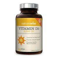 NATUREWISE VITAMIN D3 5000 IU HEALTHY MUSCLE FUNCTION BONE HEALTH IMMUNE SUPPORT