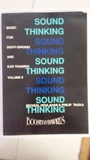 Sound Thinking: Music for Sight-Singing and Ear Training: Volume I (Volume 2) Pa