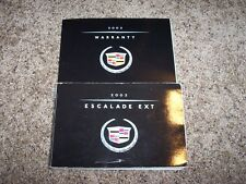 2002 Cadillac Escalade EXT Owner Owner's Operator User Guide Manual 6.0L V8