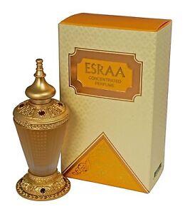 Esraa 30ml fragrance oil Female bergamot ylang saffron aorris new by Rasasi