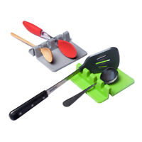 Heat Resistant Silicone Spoon Rest Cooking Utensil Spatula Holder Organizer HOT