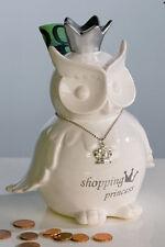 "Casablanca Design Spardose ""Shopping"" Keramik, weiss /silber Höhe 17 cm 26344"