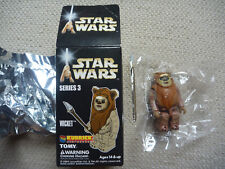 Star Wars Kubrick Series 3 Wicket Figure, still sealed in plastic bag and box