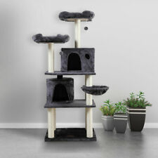 """New listing Cat Tree 60"""" Tower Condo Furniture Scratching Posts Kitten Beds Hammo 00006000 ck House"""