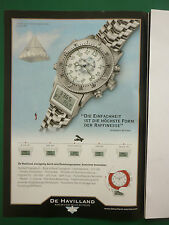 2010 PUB MONTRES SWISS WATCHES UHREN DE HAVILLAND DH-02 FLIEGERUHR GERMAN AD