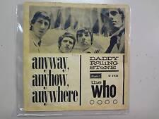 "WHO: Anyway Anyhow Anywhere-Daddy Rolling Stone-U.K. 7"" Brunswick w/Denmark PSL"