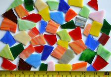 200g (ca.40-60St) Tiffany-Glas Bruch Mosaik unbearbeitet bunt klein Mosaiksteine