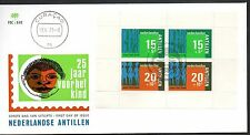 Dutch Antilles - 1973 Child welfare Mi. Block 3 clean unaddressed FDC
