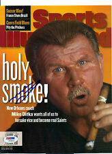 MIKE DITKA AUTOGRAPHED SIGNED AUTO Sports Illustrated cover BEARS SAINTS PSA DNA