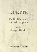 DUETTE KLARINETTE & ALT-SAXOPHON > J. HAYDN ( NOTEN )