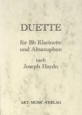 NOTEN DUETTE KLARINETTE &  ALT-SAXOPHON > JOSEPH HAYDN