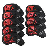 9 Pcs Golf Protector Golf Club Head Cover Wedge Iron Protective Headcovers