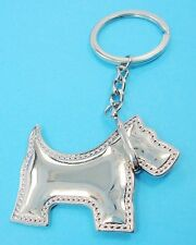 Adorable Scottish Terrier Scottie Dog Key Chain Or Purse Charm Silver plated