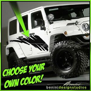 Splash Stripe - FITS Liberty Cherokee Limited Jeep Wrangler 4 Door