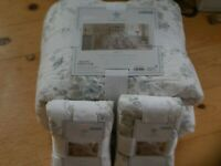 SIMPLY SHABBY CHIC SHADOW ROSE QUEEN QUILT & 2 SHAMS FRENCH FARMHOUSE NEW NWT
