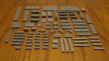 LEGO  LOT OF 86 OLD DARK GRAY BRICKS 1X2 2X2 2X4 2X8 2X16  HUGE MIXTURE OF BRICK