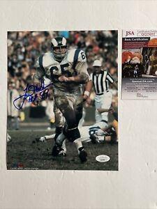 Tom Mack Signed 8 x 10 Photo JSA COA Los Angeles Rams HOF ProLook
